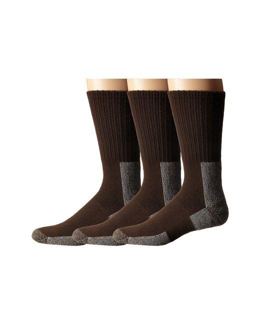 Thorlo - Brown Trail Hiking Crew 3 Pair Pack (chestnut) Men's Crew Cut Socks Shoes for Men - Lyst