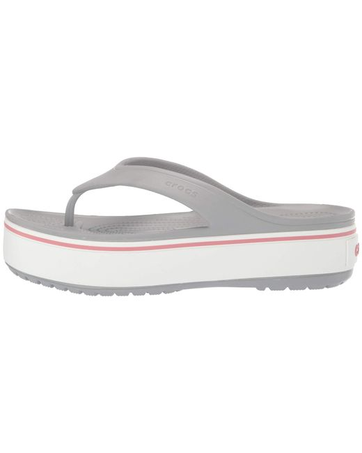 518d59e97564 ... Crocs™ - Gray Crocband Platform Flip (light Grey rose) Sandals - Lyst  ...