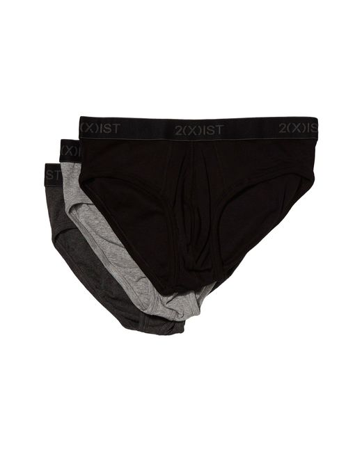 ad1fd1a74e7 Lyst - 2xist 2(x)ist Cotton 3-pack No Show Brief (black grey Heather ...