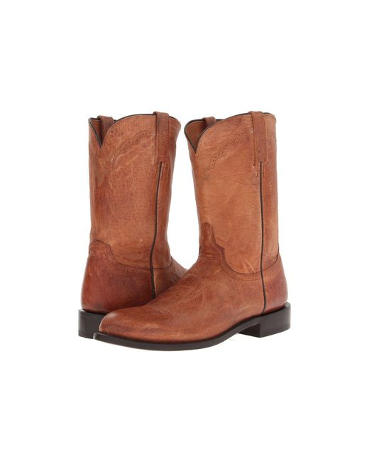 Lucchese - Brown M1017.c2 (tan Mad Dog Goat Roper) Cowboy Boots for Men - Lyst