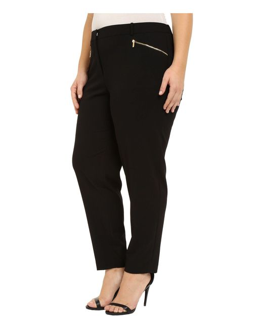 Calvin Klein Synthetic Plus Size Skinny Pants With Zippers ...