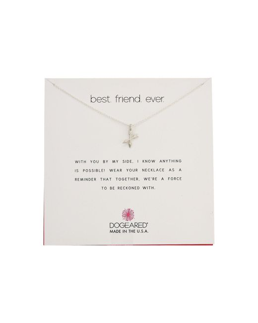 Dogeared - Metallic Best Friend Ever, Crossing Arrow Necklace - Lyst