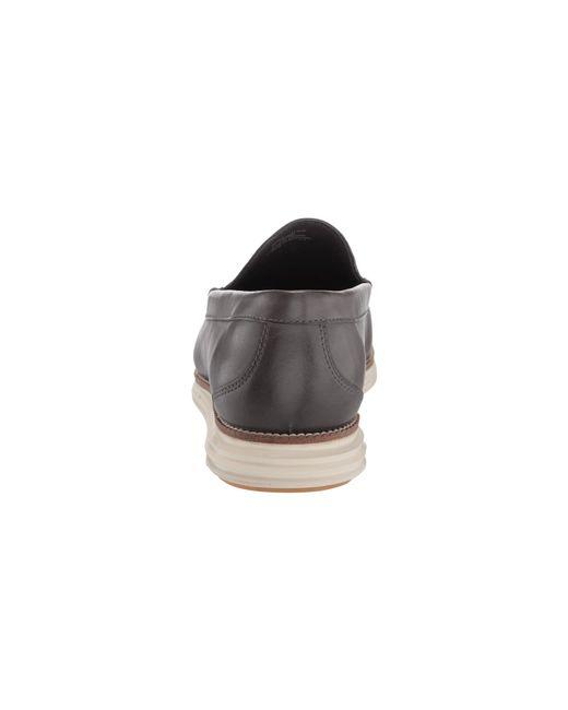 6ad7144e781 ... Cole Haan - Black Original Grand Venetian (magnet Leather ivory) Men s  Slip On ...