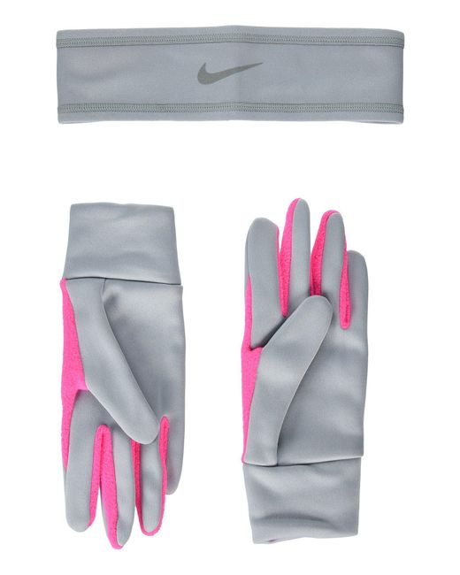Nike - Multicolor Run Thermal Headband And Gloves Set - Lyst