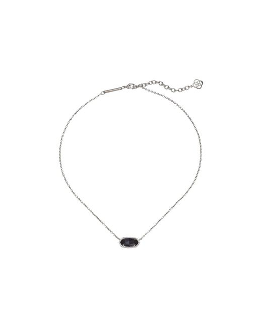 Kendra Scott - Black Elisa Pendant Necklace (rose Gold Rose Gold Drusy) Necklace - Lyst
