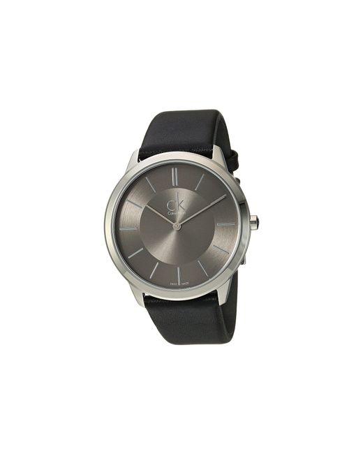 Calvin Klein - Gray Minimal Watch - K3m211c4 (dark Grey/black) Watches for Men - Lyst
