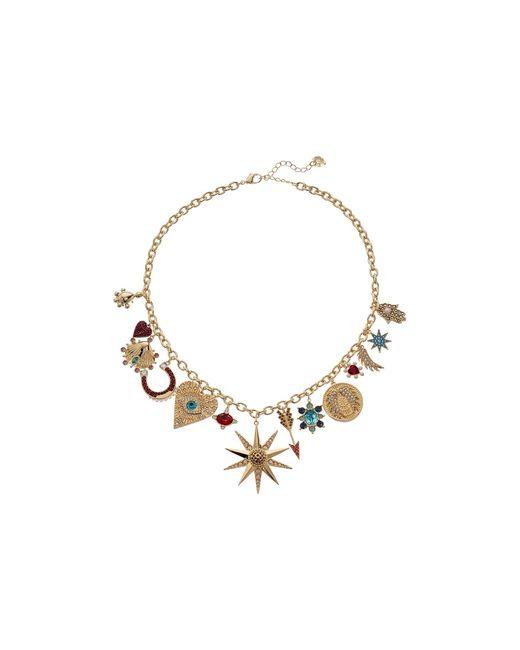Swarovski Metallic Lucky Goddess Charms Necklace
