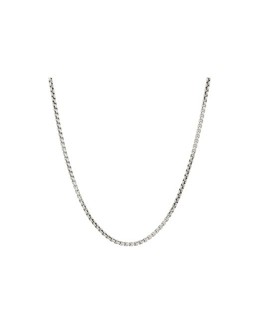 John Hardy Metallic 2.6mm Box Chain Necklace Size 26 for men