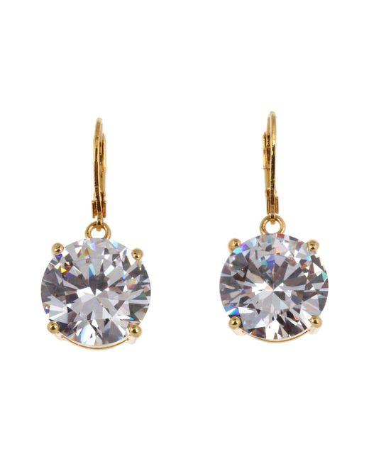 Betsey Johnson - Metallic Drop Crystal Earrings - Lyst
