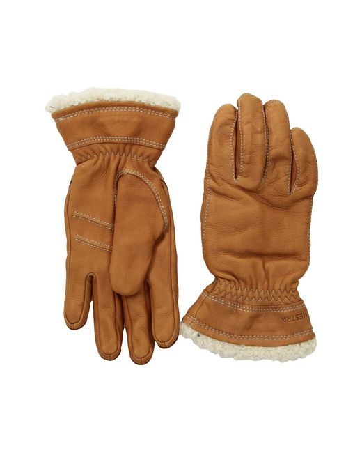 Hestra Brown Deerskin Primaloft (cork) Ski Gloves