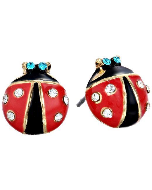 Betsey Johnson | Red Ladybug Studs | Lyst