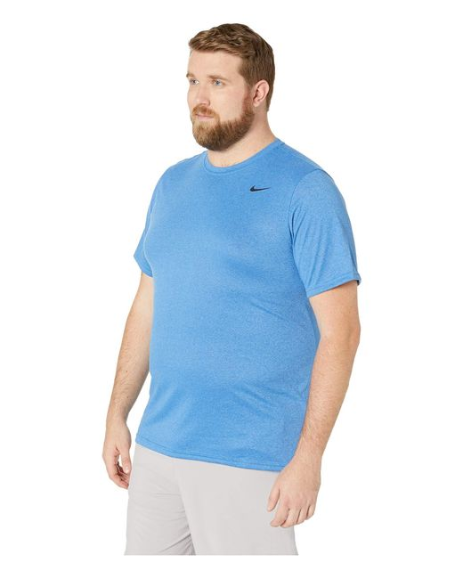 3a01b256 ... Nike - Blue Big Tall Legend 2.0 Short Sleeve Tee (black/black/matte ...