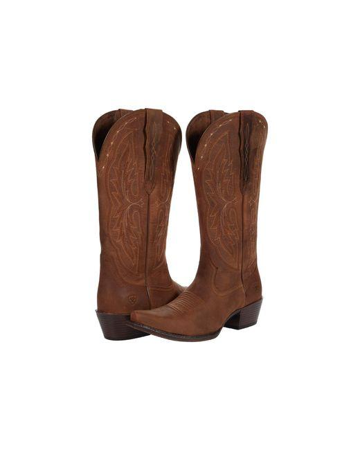 Ariat Brown Heritage X Toe Elastic Calf Shoes