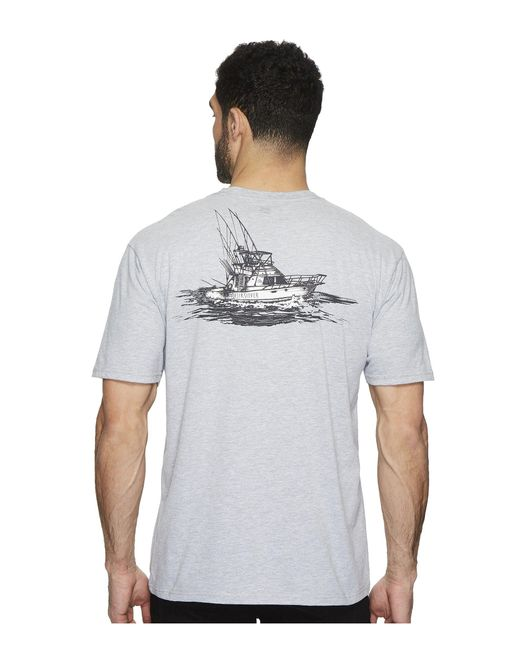 Quiksilver - Gray Tuna Charter Short Sleeve Tee for Men - Lyst