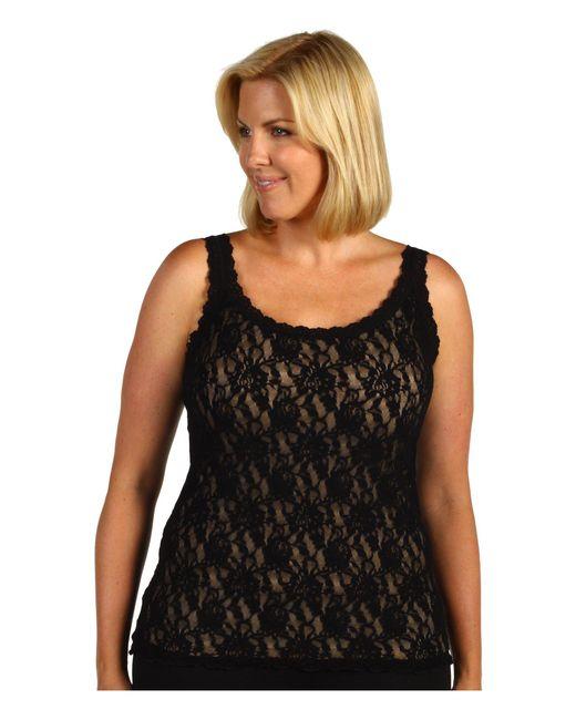 Hanky Panky Black Plus Size Signature Lace Unlined Cami