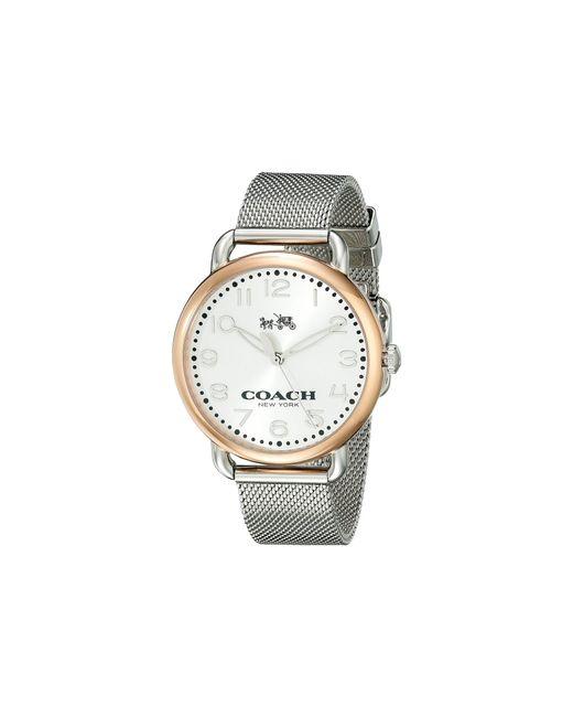 COACH - Metallic Delancey 36mm Mesh Bracelet Watch - Lyst