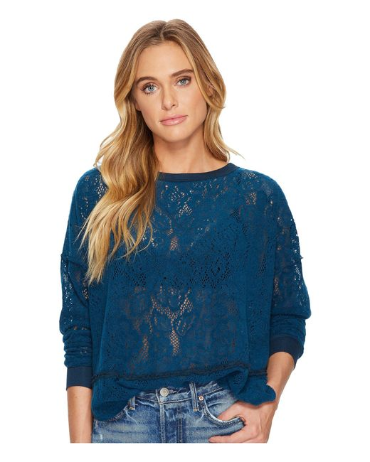 Free People - Blue Not Cold In This Top - Lyst
