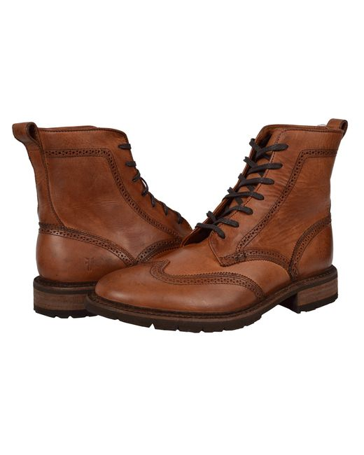 Frye | Brown James Lug Wingtip Boot for Men | Lyst