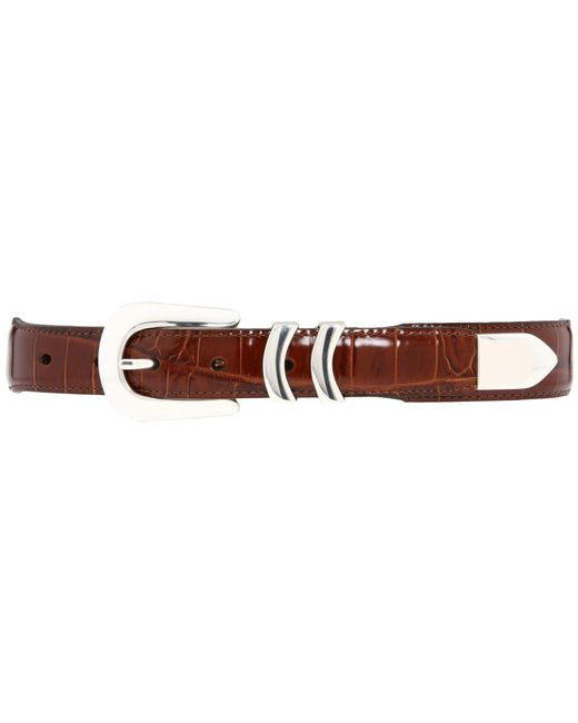Brighton | Brown Catera Croco Taper Belt for Men | Lyst