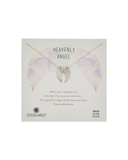 Dogeared - Metallic Heavenly Angel, Slide Through Angel Wing Necklace (gold) Necklace - Lyst