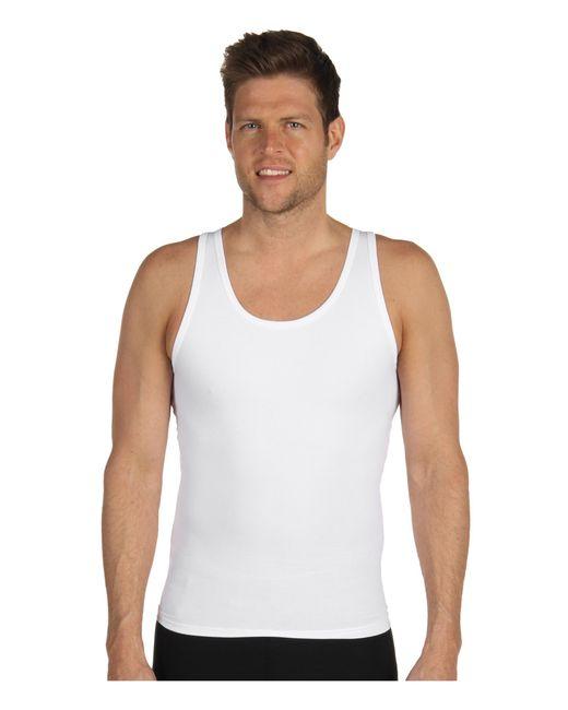 Spanx | White Cotton Compression Tank for Men | Lyst
