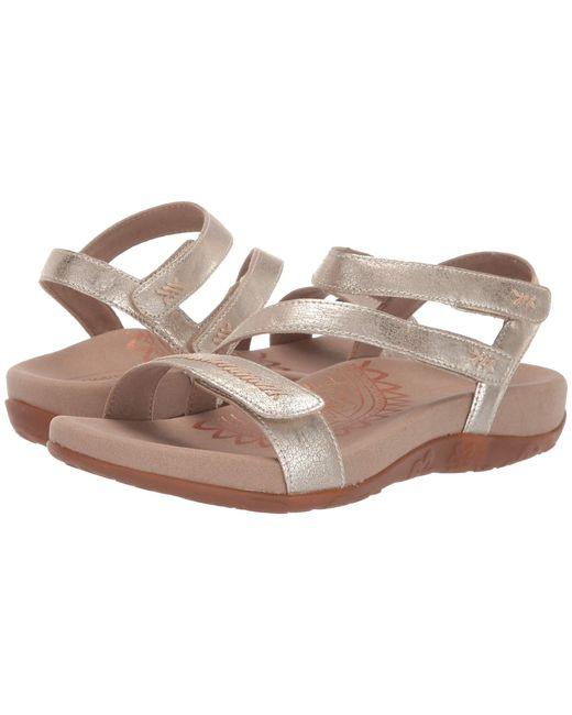 Aetrex Metallic Gabby Sandals