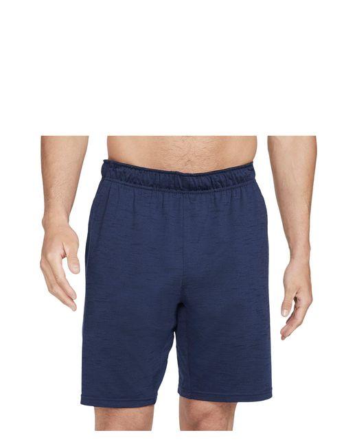 Nike Blue Dry Shorts Hyperdry Light Yoga Shorts for men