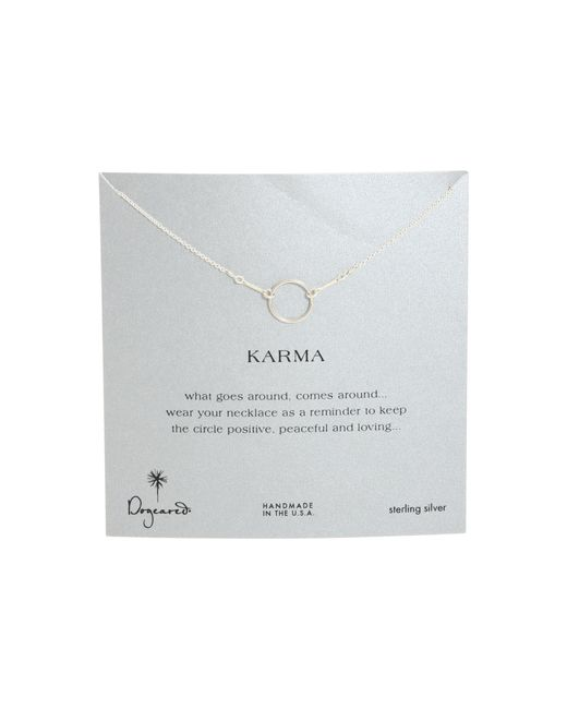 Dogeared   Metallic Karma Necklace 16 Inch   Lyst