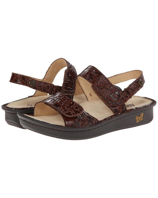 Alegria | Brown Verona Double Banded Leather Sandals | Lyst