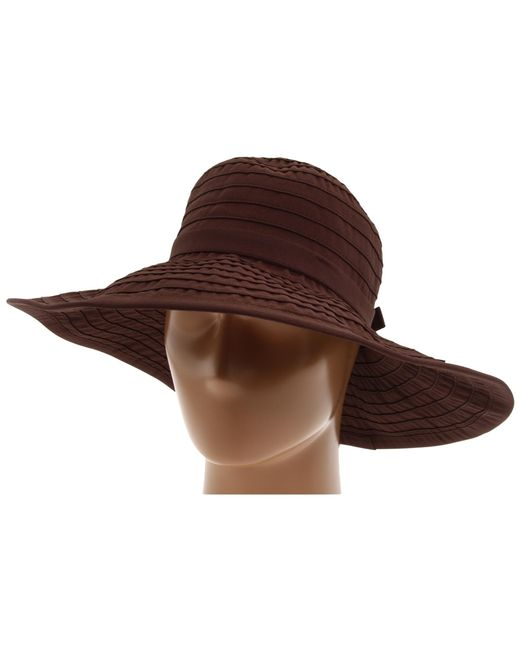 San Diego Hat Company | Brown Rbl299 Crushable Ribbon Floppy Hat | Lyst