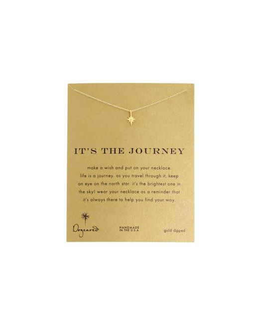 Dogeared   Metallic It's The Journey Necklace 16 Inch   Lyst