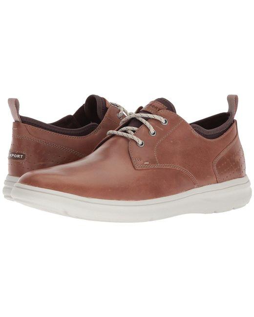 Rockport - Brown Zaden Plain Toe Oxford (dark Shadow Leather) Men's Shoes for Men - Lyst