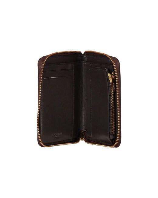 1da8c6f1bd0e ... COACH - Small Zip Around In Crossgrain Patent Leather (li black) Wallet  ...