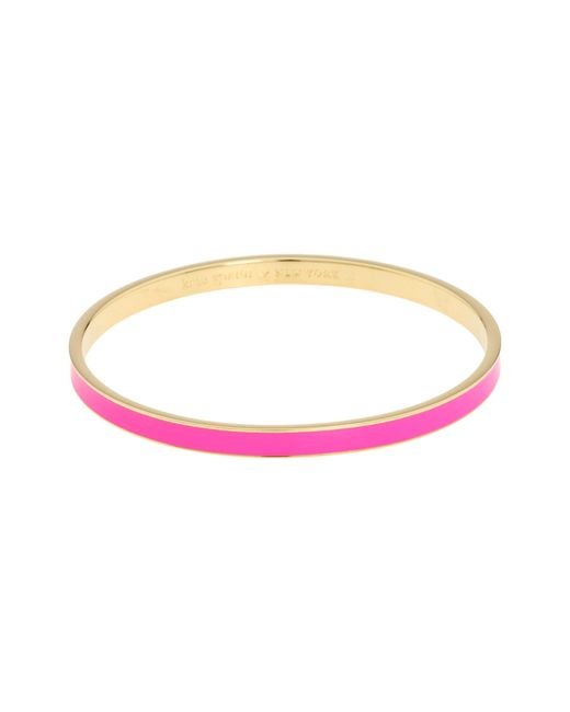 kate spade new york | Pink Hot To Trot Idiom Bangle | Lyst