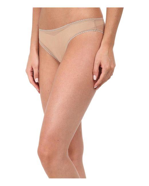 On Gossamer | Brown Solid Gossamer Mesh Hip Bikini 3202 | Lyst