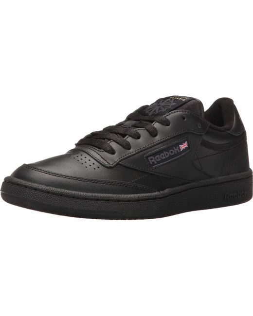 reebok club c 85 black leather