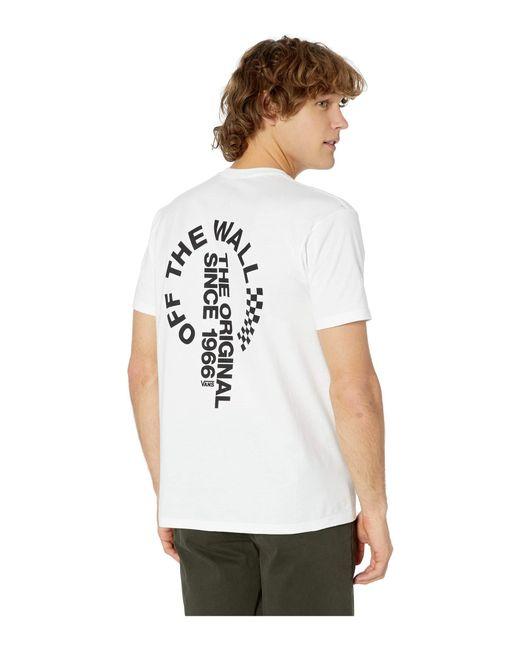 82087a1a5b Vans - White Otw Distort Short Sleeve T-shirt (black) Men s T Shirt ...