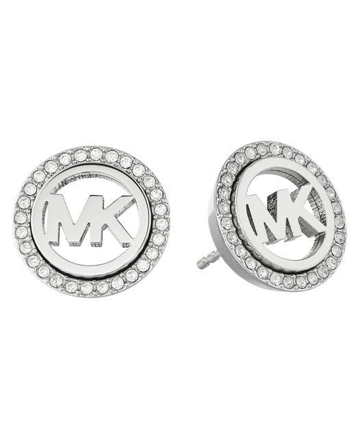 Michael Kors   Metallic Pave Stud Earrings   Lyst