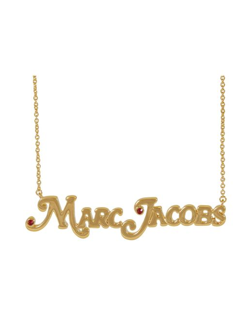 Marc Jacobs Metallic The Nameplate Necklace Mj Small Necklace