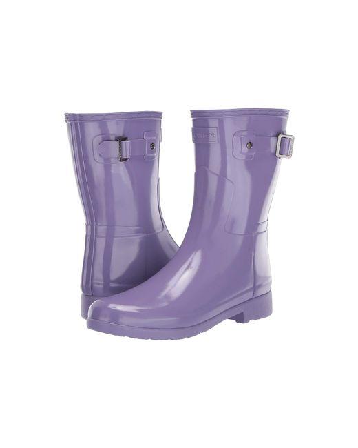 c66b2ab1e3c74 Hunter - Purple Original Refined Short Gloss (parma Violet) Women s Rain  Boots - Lyst ...