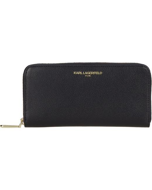 Karl Lagerfeld Metallic Small Leather Good Wallet