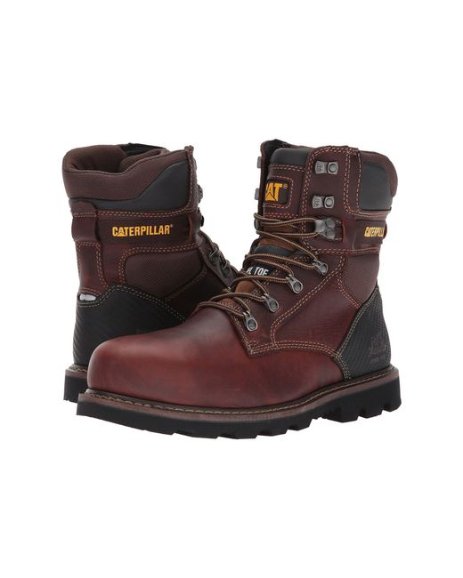 7ff8aac4c5ec Caterpillar - Brown Indiana 2.0 Steel Toe (black) Men s Work Boots for Men  ...