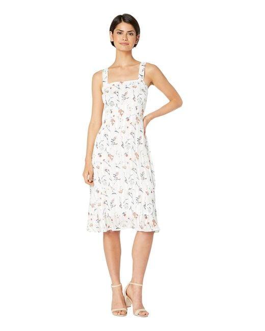 Sam Edelman White Ditsy Print Sheath Dress
