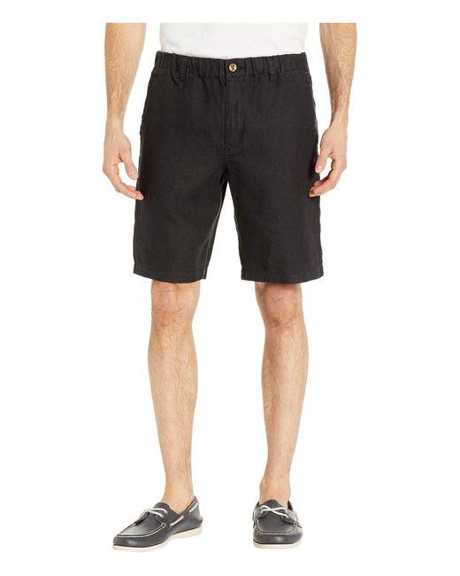 Tommy Bahama Black Linen The Good Life Shorts for men