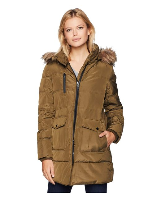 Marc New York - Multicolor Astoria Down Filled Anorak With Faux Fur Trim Hood Patch Pockets (grove) Women's Coat - Lyst