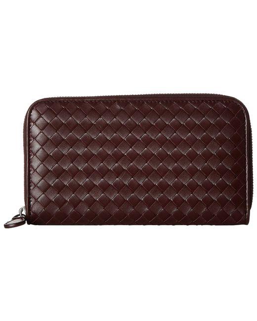 Bottega Veneta - Multicolor Intrecciato Zip Around Wallet (aqua) Wallet Handbags - Lyst