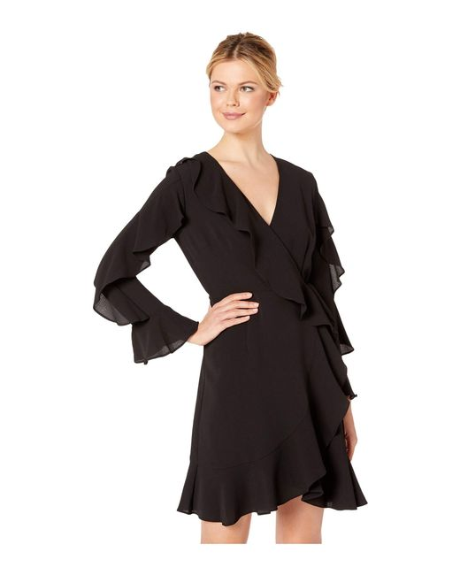 Lyst Adrianna Papell Pebble Stretch Chiffon Blouson Dress Features