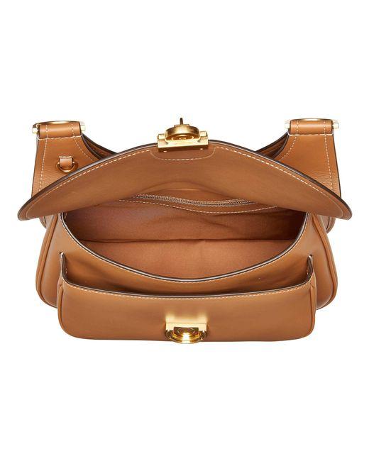 ba0dfc474d9 ... Tory Burch - Brown James Saddlebag (moose) Handbags - Lyst ...