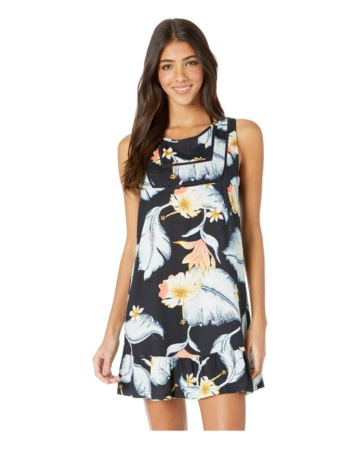 df9bb4726d5 Roxy - Blue All About The Sea Cover-up Dress (anthracite Tropical Love) ...