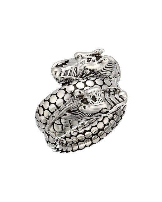 John Hardy - Metallic Legends Naga Coil Ring - Lyst